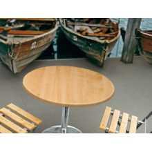 Saturno RWA H90/110 - Mesa de werzalit, altura regulable, soporte de acero cromado, de exterior, para hostelería