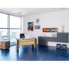 Business Office 1 - Muebles de oficina completos en madera con revestimiento de melamina, hogar, estudio, escuela, hotel