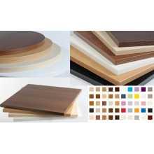 SATURNO 3,6 -Encimera para mesa de madera melaminica, grosor borde 36mm, para bar, pizzería, restaurante