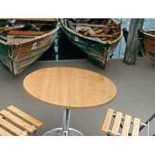 Saturno RW – Mesa con soporte de acero cromado, tablero de werzalit, para exterior, para jardín, bar