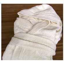 WELLNESS - Albornoz algodón 100%, rizado, con capucha, para hotel, hostal, pensión,SPA