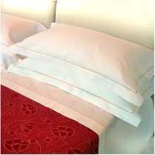 DOLCE VITA - Sábana a rayas individual con cordoncillo puro algodón para cama una plaza, dos plazas para hotel, b&b, pensiones