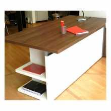 ELEGANCE - Escritorio oficina ejecutivo, convencional en madera y melamina para oficina, estudio, hotel, alojamiento