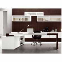 MATRIX - Escritorio oficina ejecutiva convencional de madera melamina para oficina, estudio, hotel, alojamiento